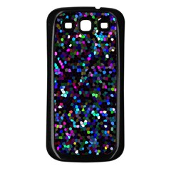 Glitter 1 Samsung Galaxy S3 Back Case (black) by MedusArt