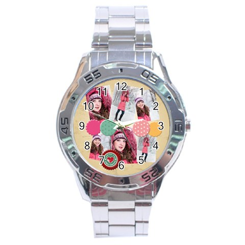 Love By Ki Ki   Stainless Steel Analogue Watch   N1wwqanoqnj1   Www Artscow Com Front