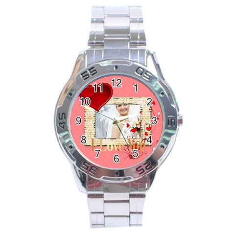 Love By Ki Ki   Stainless Steel Analogue Watch   Jdekib0d65tm   Www Artscow Com Front
