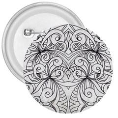 Drawing Floral Doodle 1 3  Button by MedusArt