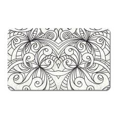 Drawing Floral Doodle 1 Magnet (rectangular) by MedusArt