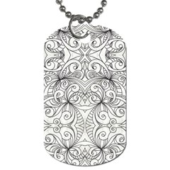 Drawing Floral Doodle 1 Dog Tag (two Sided)  by MedusArt