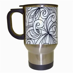 Drawing Floral Doodle 1 Travel Mug (white) by MedusArt