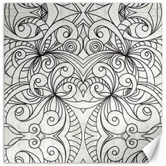 Drawing Floral Doodle 1 Canvas 12  X 12  (unframed) by MedusArt