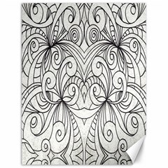 Drawing Floral Doodle 1 Canvas 12  X 16  (unframed) by MedusArt