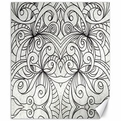 Drawing Floral Doodle 1 Canvas 20  X 24  (unframed) by MedusArt