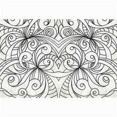 Drawing Floral Doodle 1 Canvas 24  X 36  (unframed) by MedusArt