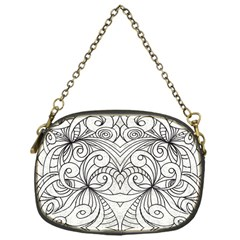 Drawing Floral Doodle 1 Chain Purse (one Side) by MedusArt