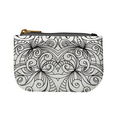 Drawing Floral Doodle 1 Coin Change Purse by MedusArt