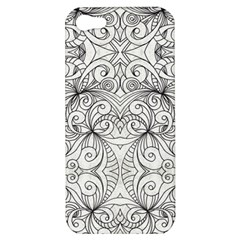 Drawing Floral Doodle 1 Apple Iphone 5 Hardshell Case by MedusArt