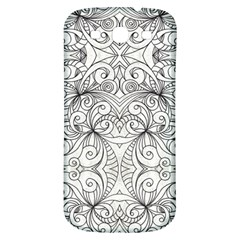 Drawing Floral Doodle 1 Samsung Galaxy S3 S Iii Classic Hardshell Back Case by MedusArt