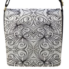 Drawing Floral Doodle 1 Removable Flap Cover (small) by MedusArt