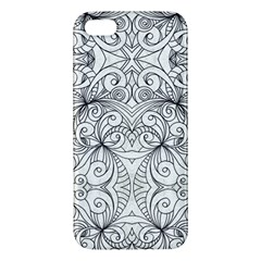 Drawing Floral Doodle 1 Iphone 5s Premium Hardshell Case by MedusArt