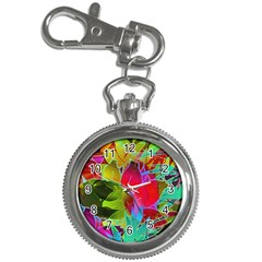Floral Abstract 1 Key Chain & Watch by MedusArt