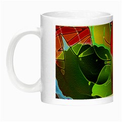Floral Abstract 1 Glow In The Dark Mug by MedusArt