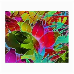 Floral Abstract 1 Glasses Cloth (small) by MedusArt