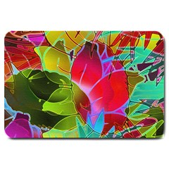 Floral Abstract 1 Large Door Mat by MedusArt