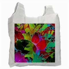 Floral Abstract 1 Recycle Bag (one Side) by MedusArt