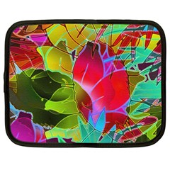 Floral Abstract 1 Netbook Sleeve (xxl) by MedusArt