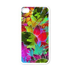 Floral Abstract 1 Apple Iphone 4 Case (white) by MedusArt