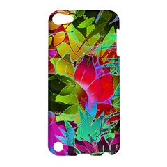 Floral Abstract 1 Apple Ipod Touch 5 Hardshell Case by MedusArt