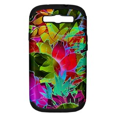 Floral Abstract 1 Samsung Galaxy S Iii Hardshell Case (pc+silicone) by MedusArt