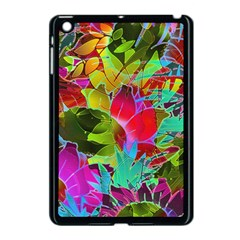 Floral Abstract 1 Apple Ipad Mini Case (black) by MedusArt