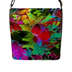 Floral Abstract 1 Flap Closure Messenger Bag (large) by MedusArt