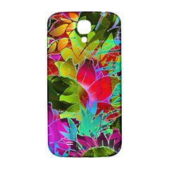 Floral Abstract 1 Samsung Galaxy S4 I9500/i9505  Hardshell Back Case by MedusArt