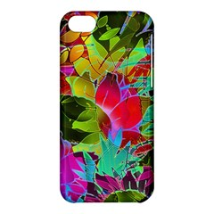 Floral Abstract 1 Apple Iphone 5c Hardshell Case by MedusArt
