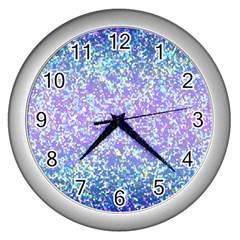 Glitter2 Wall Clock (silver) by MedusArt