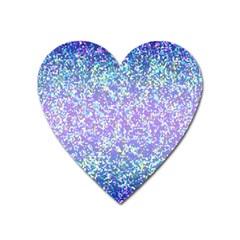Glitter2 Magnet (heart) by MedusArt