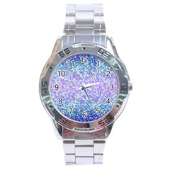Glitter2 Stainless Steel Watch by MedusArt