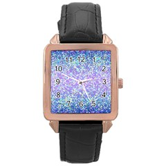 Glitter2 Rose Gold Leather Watch