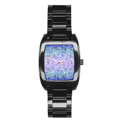 Glitter2 Stainless Steel Barrel Watch by MedusArt