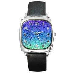 Grunge Art Abstract G57 Square Metal Watch by MedusArt