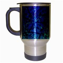 Grunge Art Abstract G57 Travel Mug (silver Gray) by MedusArt