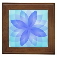 Abstract Lotus Flower 1 Framed Ceramic Tile by MedusArt