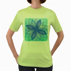 Abstract Lotus Flower 1 Women s T Shirt (green) by MedusArt