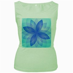 Abstract Lotus Flower 1 Women s Tank Top (green) by MedusArt