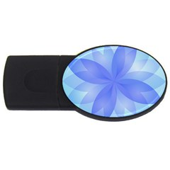 Abstract Lotus Flower 1 2gb Usb Flash Drive (oval) by MedusArt