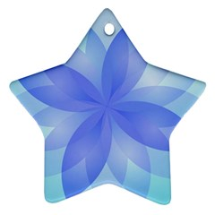 Abstract Lotus Flower 1 Star Ornament (Two Sides)