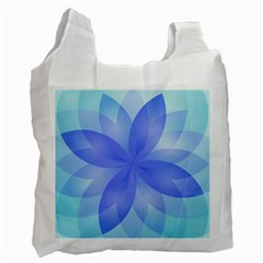 Abstract Lotus Flower 1 Recycle Bag (Two Sides) by MedusArt