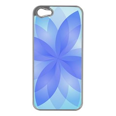 Abstract Lotus Flower 1 Apple Iphone 5 Case (silver) by MedusArt