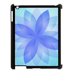 Abstract Lotus Flower 1 Apple Ipad 3/4 Case (black) by MedusArt