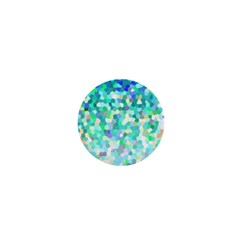 Mosaic Sparkley 1 1  Mini Button by MedusArt