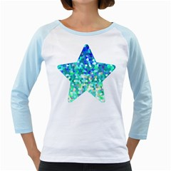 Mosaic Sparkley 1 Women s Long Cap Sleeve T Shirt (white)  by MedusArt