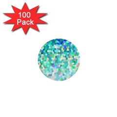 Mosaic Sparkley 1 1  Mini Button (100 Pack) by MedusArt