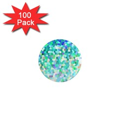 Mosaic Sparkley 1 1  Mini Button Magnet (100 Pack) by MedusArt