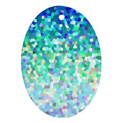 Mosaic Sparkley 1 Oval Ornament (two Sides) by MedusArt